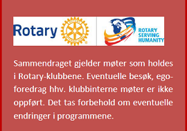 Program for klubbene i Distrikt 2310 er nå tilgjengelig for alle.